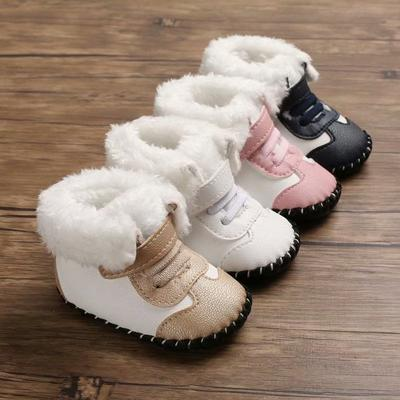 Winter Boots for Baby Girl Sweet Princess Newborn Baby Girls First Winter Soft Sole Walkers Infant Footwear Kids Shoes
