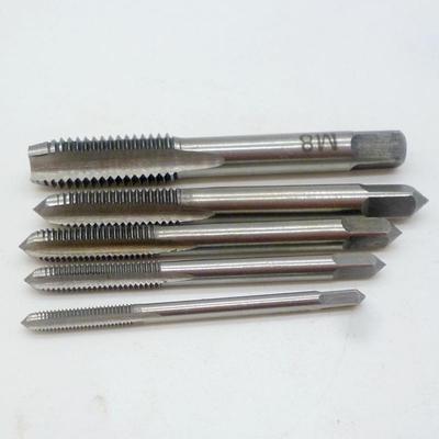 New 5pcs Hand Tap Tapping Screw Thread Metric Plugs Taps Set M3 M4 M5 M6 M8