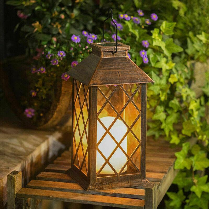 LED Solar Power Lantern Waterproof Hanging Lamp Outdoor Garden Landscape Lights
