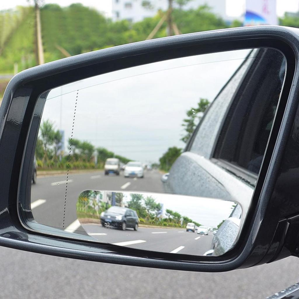 1 Pair Universal Self-adhesive 360 Degree Adjustable Angle HD Double-sided Blind Spot Rear View Rearview Mirrors for Cars Vehicle Truck