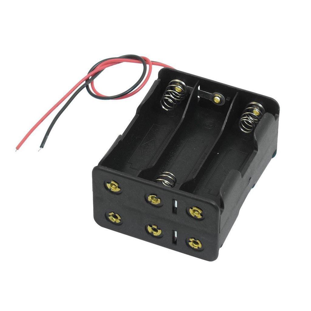 Schwarzen Schlepptau Schichten 6 x 1.5V AA Batterien Batterie Halter ...