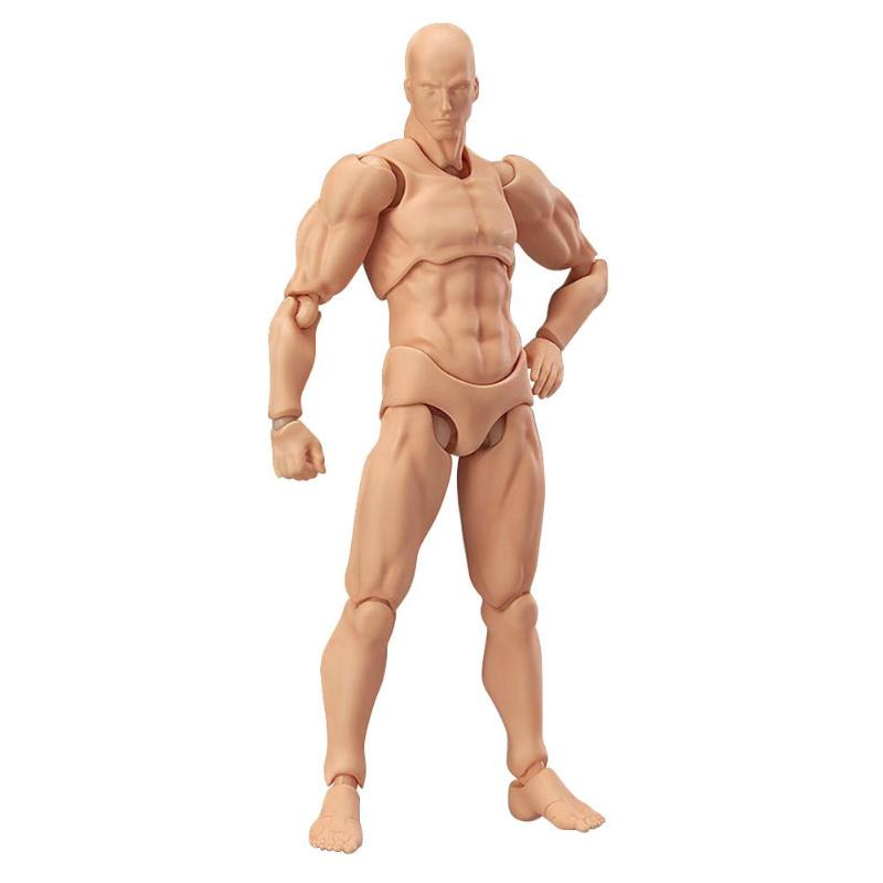 17cm Figma Archetype Action Figure 2.0 Body Male Grey Color Model Doll For Decor