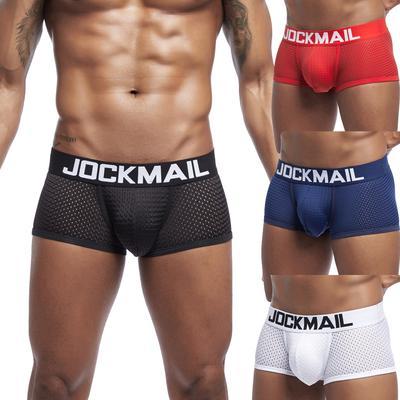 M-2XL Men's New Underpants Mesh Breathable Patchwork Sports Fitness Underwear Briefs
