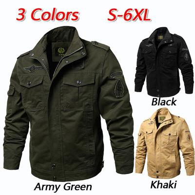 2018 New Fashion Autumn Men s Jackets Male Casual Slim Stand Collar Bomber Jacket Men Outerdoor Overcoat Windbreaker Removing Obstruction Jackets Men's Clothing