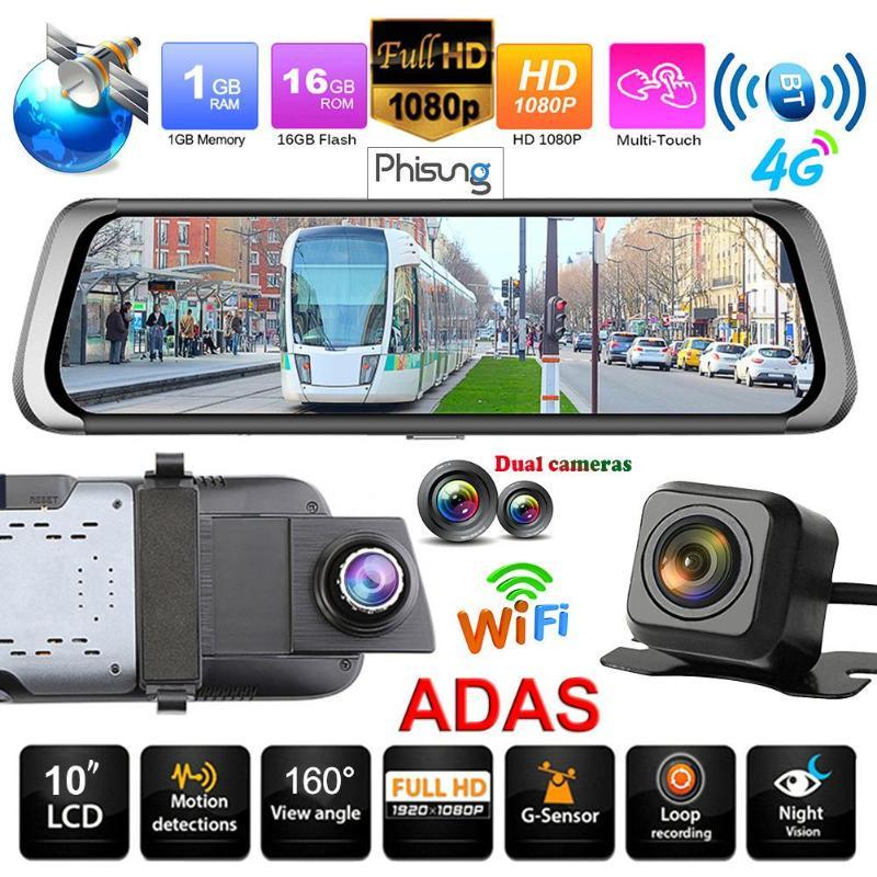 3/'/' Touch Screen Dual Lens Car DVR Dash Cam Android 5.0 GPS WIFI 3G G-Sensor WDR