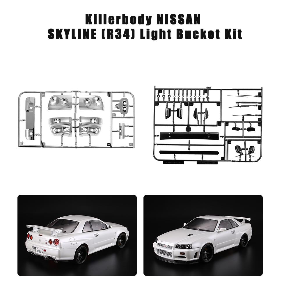 1:10 Scale Auto Model DIY Body Parts for On Road Racing  Car Decoration