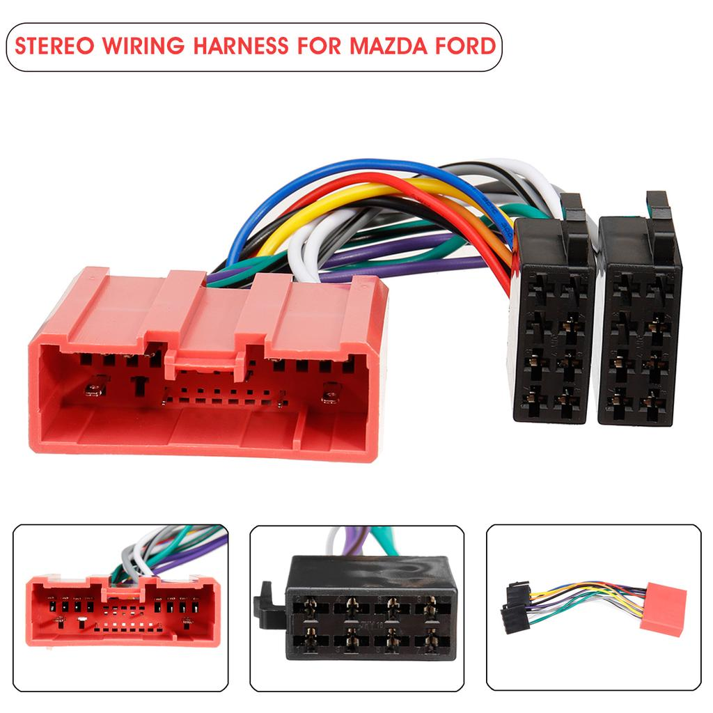 car stereo radio iso wiring harness loom adaptor connector cable for mazda  ford-buy at a low prices on joom e-commerce platform  joom