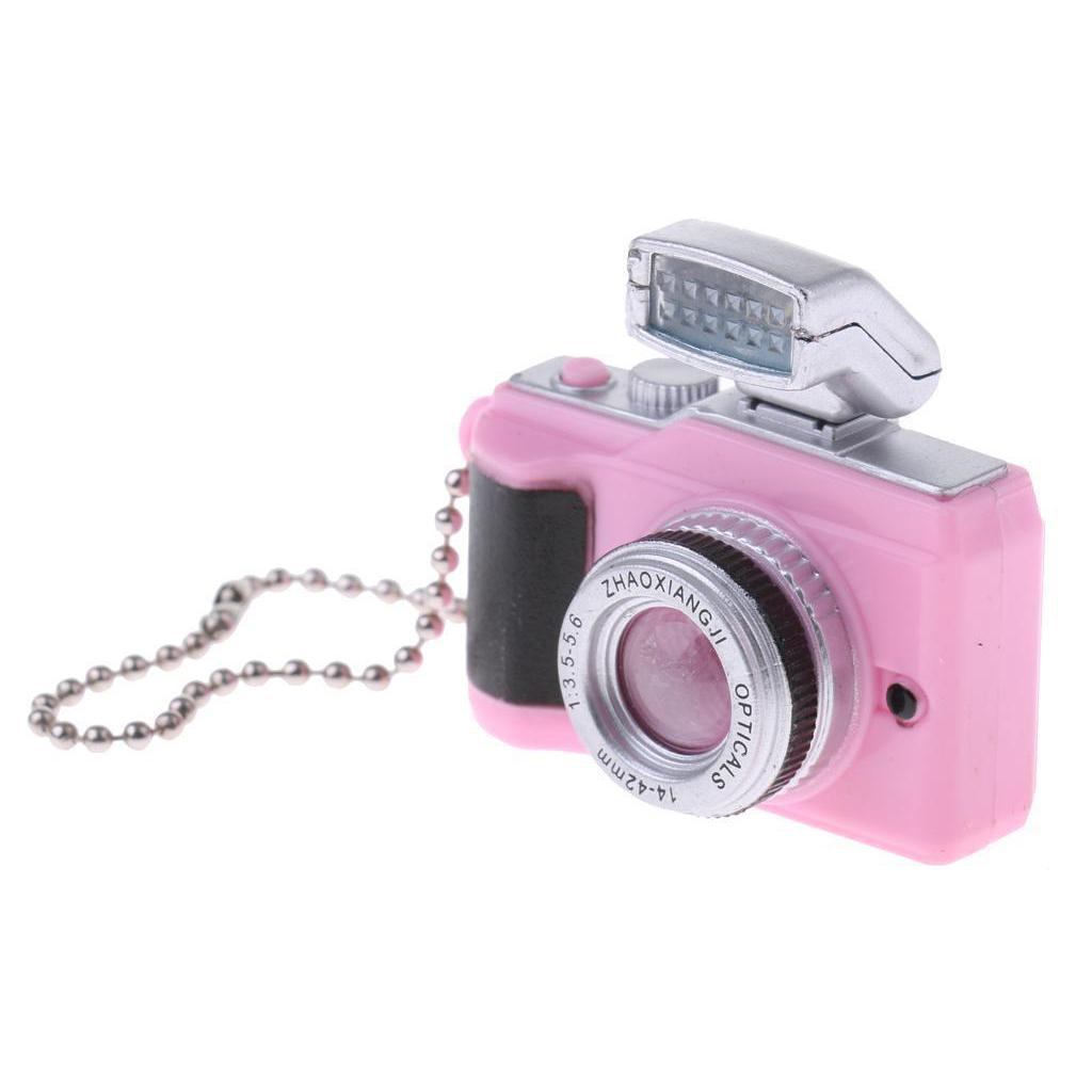 Digital Camera 1:12 Dollhouse Metal Miniature Accessory Decor Gift RS