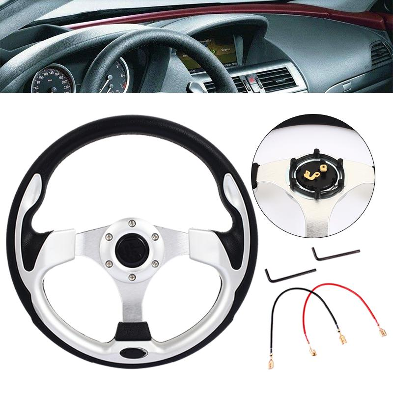 Car Modified OMP Steering Wheel Matte Leather 14 inch 350MM Imitation Racing Competitive General Steering Wheel