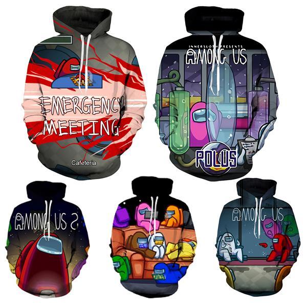 Game Among Us Cartoon Kids Boy Girl 3D Printed Hoodie Sweatshirt Pullover Tops