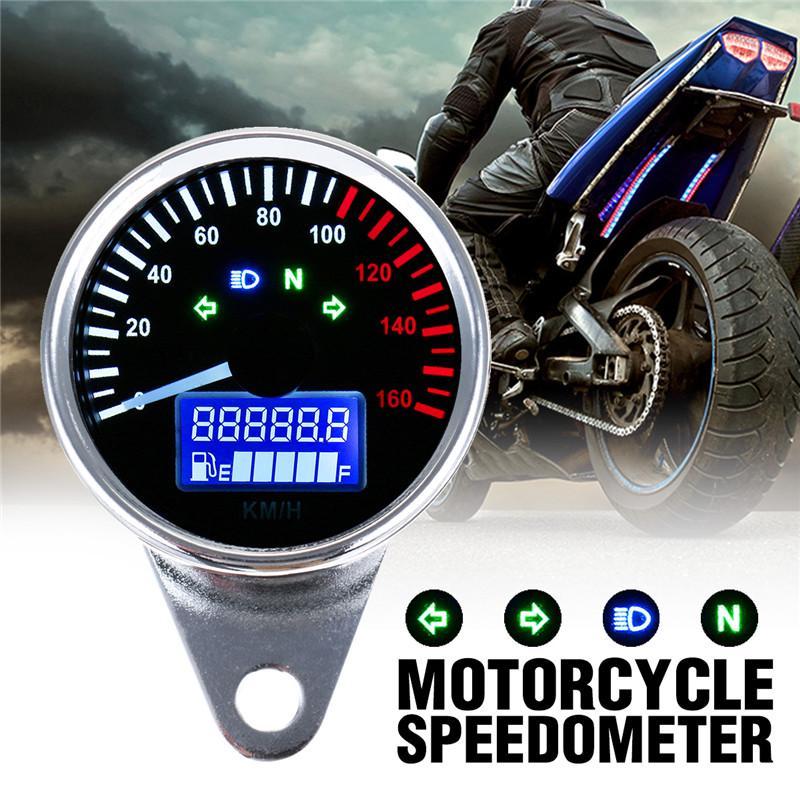 Contachilometri Contachilometri Contatore LCD per contachilometri Contagiri Contagiri Contachilometri Contatore olio multifunzione DC 12V Parti di ricambio per motociclette Strumento per motociclette
