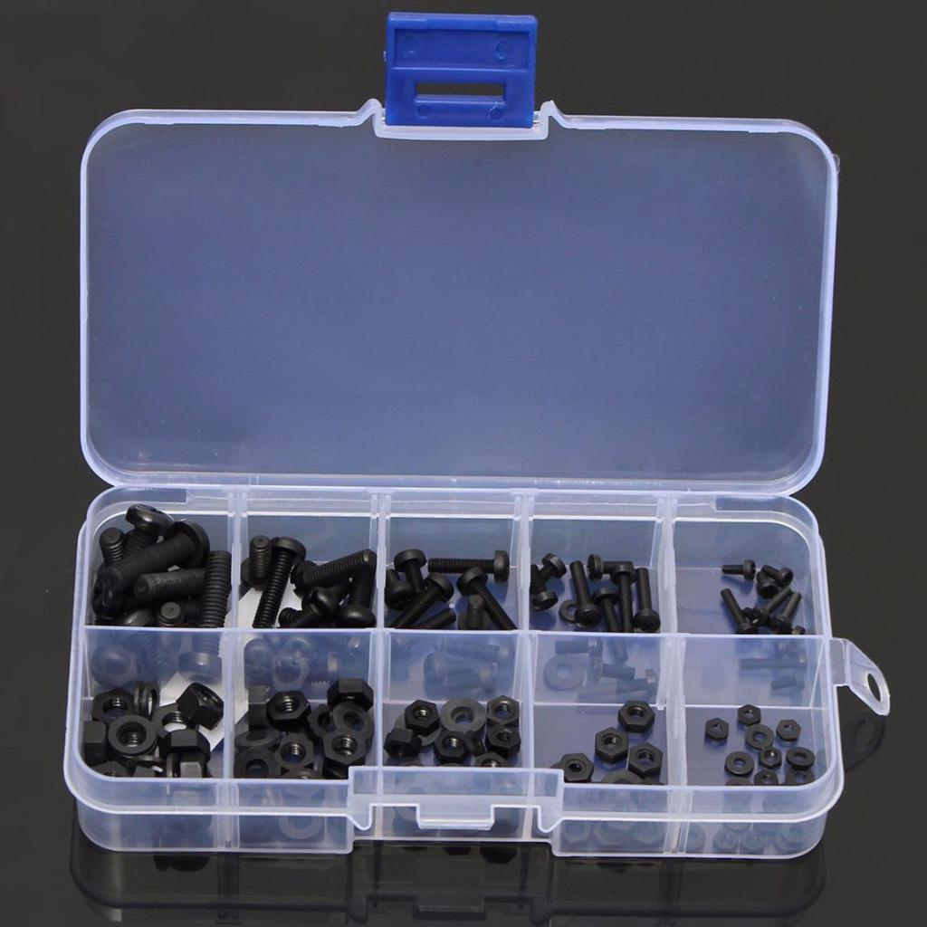 Motherboard Standoff Standoff 200pcs M2.5 Nylon Male Female Hex Standoff Bolts Nuts Assortment Set with Plastic Box Convenient Carry and Storage