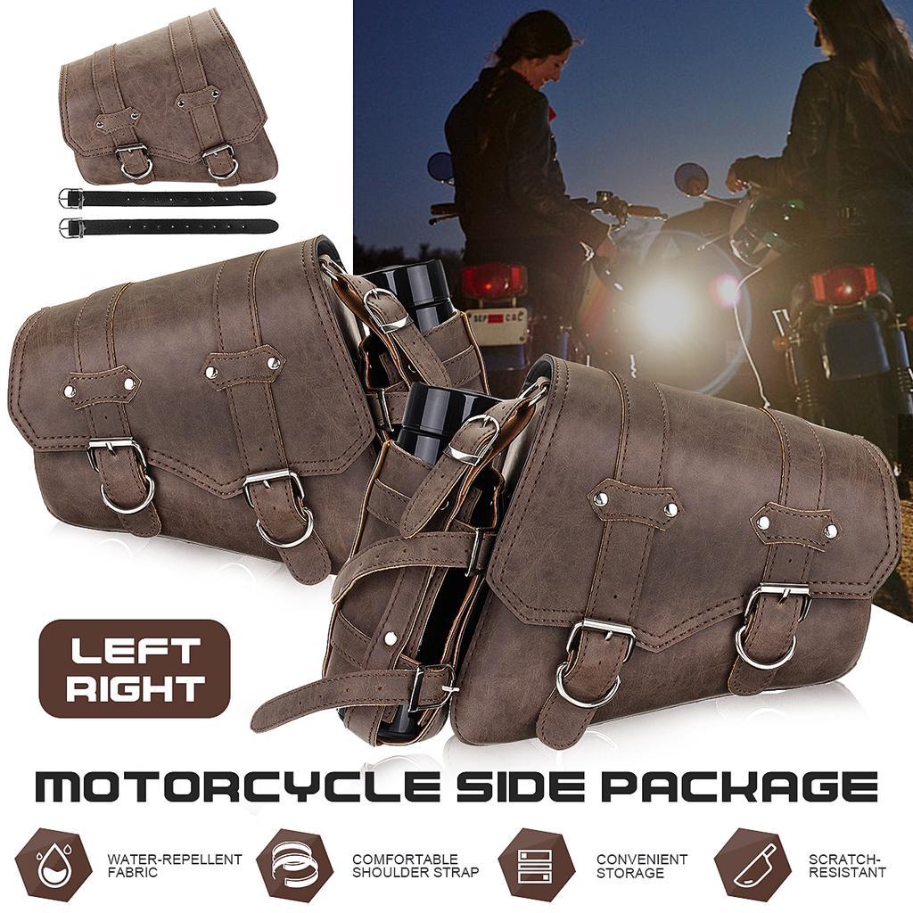 Leather Motorcycle Saddle pannier bag Bicycle Bag Bike Bag panniers for bikes