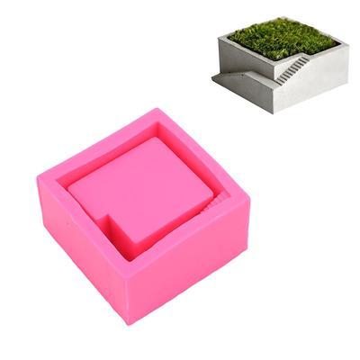 Kwadratowe Silikonowe Formy Dekoracji Domu Rzemiosło Soczyste Doniczki Formy