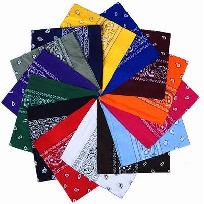 54*54cm Square Scarf Men Women Fashion Print Bandana Cotton Paisley Head Wrap Neck Scarf Wristband Handkerchief Pocket Towel Headband