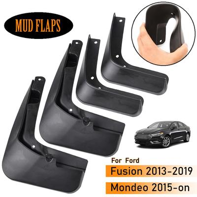 Car Mudguards For Fusion//Mondeo Molded 2013-2018 Car Mudguards Fender Mud Flaps Splash Mudguards Guards Accessories Front and Rear Set of 4Pcs