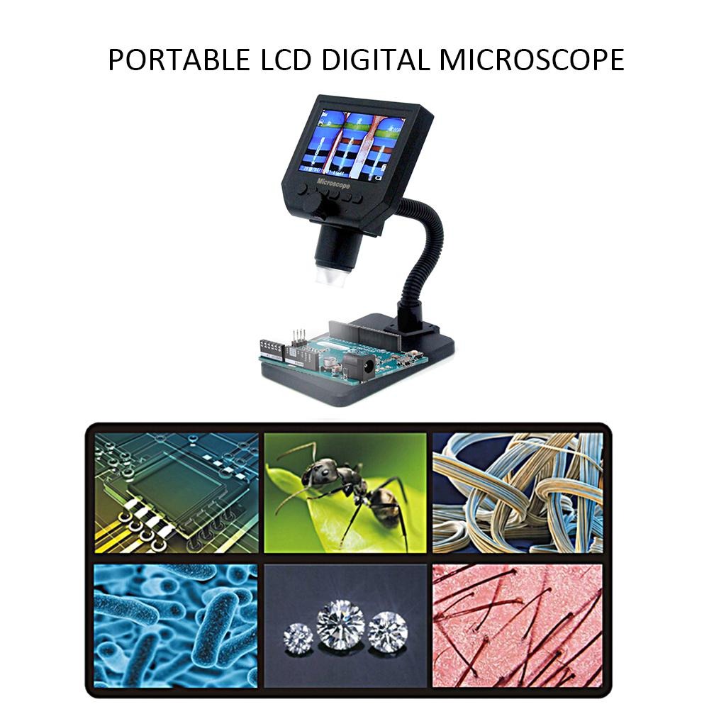 G600 Portable Lcd Digital Microscope With High Brightness 8 Leds And Built In Lithium Battery Buy At A Low Prices On Joom E Commerce Platform