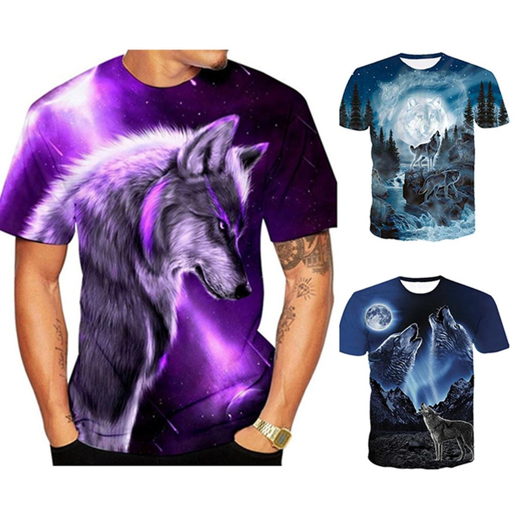 Fashion Luminous Creative 3D T shirt Mens Short Sleeve Casual round neck shirt
