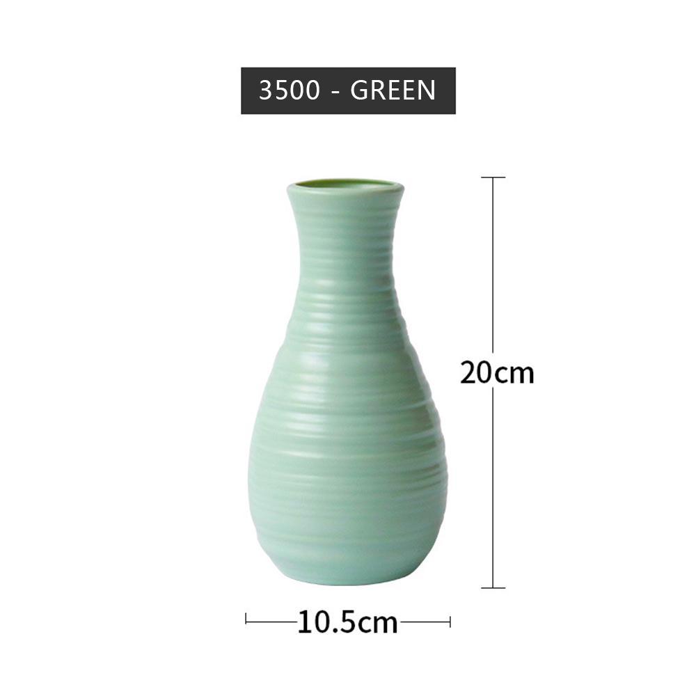 Flower Vase Shatter Proof Pots Imitation Ceramic Nordic Style Home Decoration