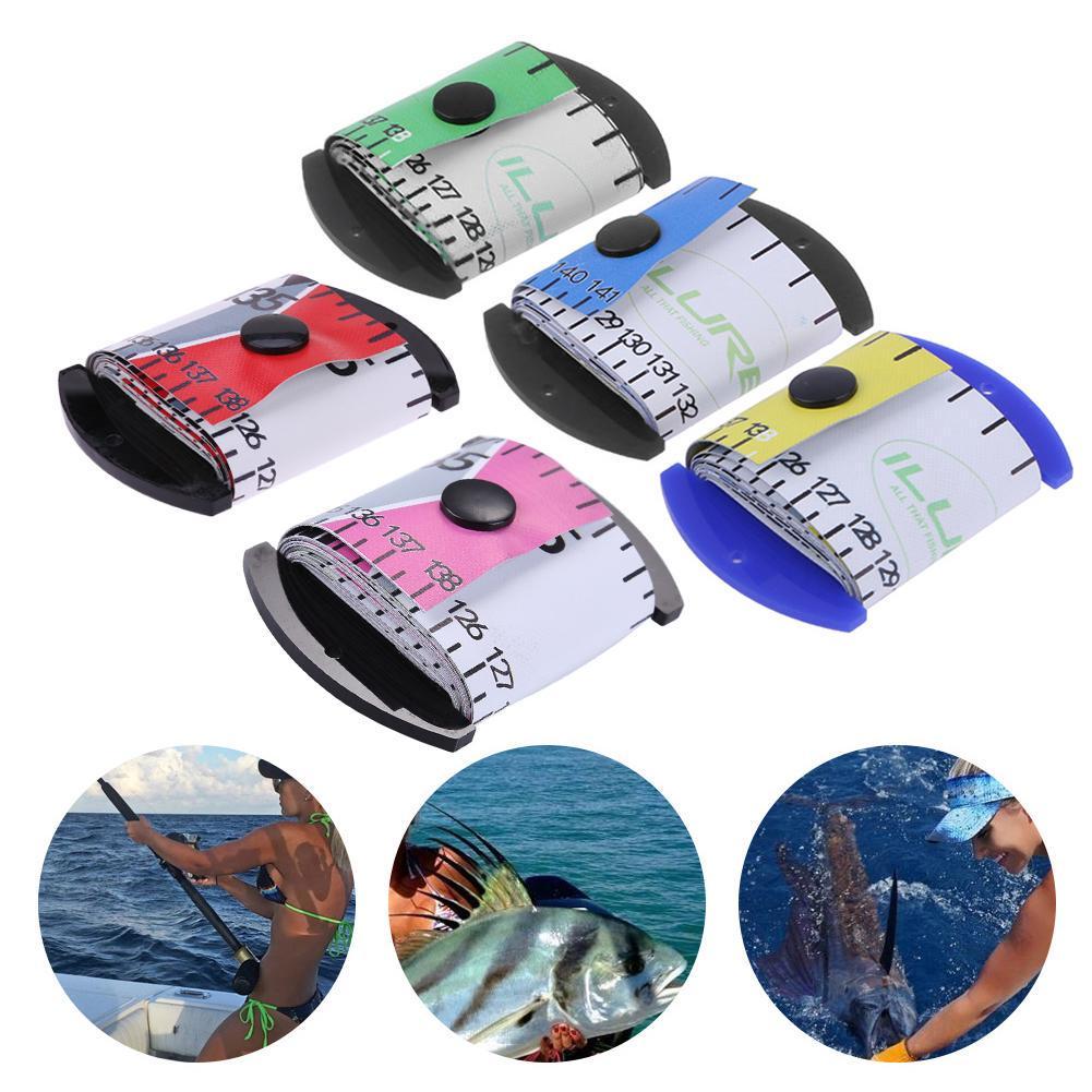 1.38m Fishing Ruler Acrylic Fiber Waterproof Long Soft Fish Ruler Tape Green