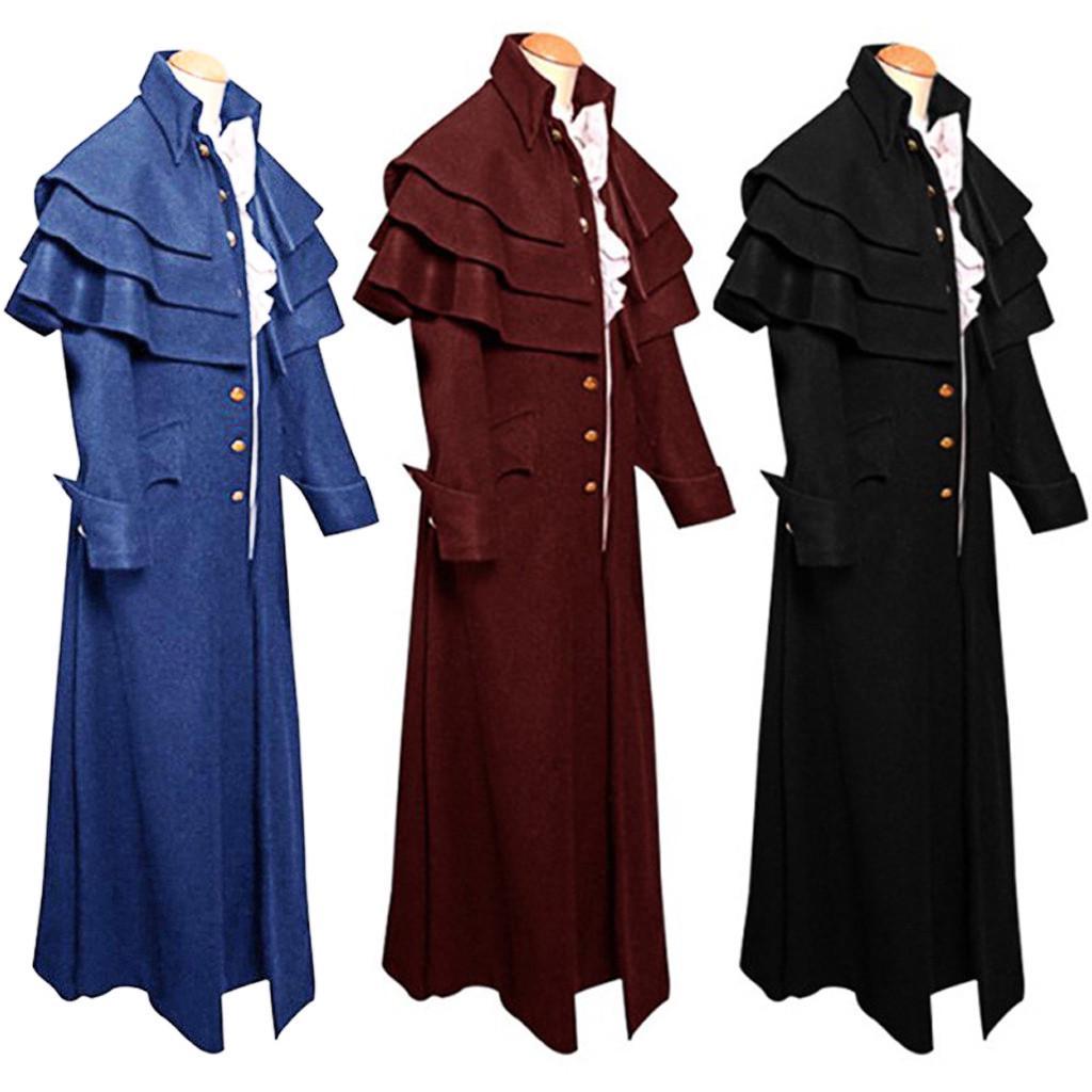 18th Prom Men Steampunk Tailcoat Jacquard Jacket Gothic Victorian Coat Waistcoat