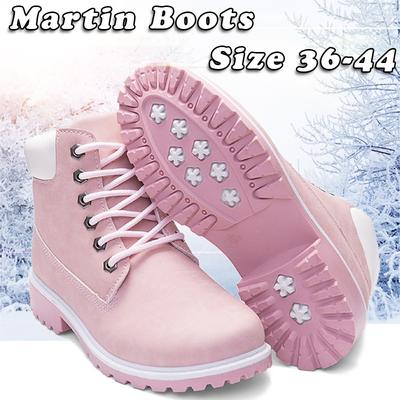 comprar popular 89006 2a422 KJ Women Men Casual Martin Boots Leather Ankle Boots Winter Shoes High-top  Waterproof Snow Boots
