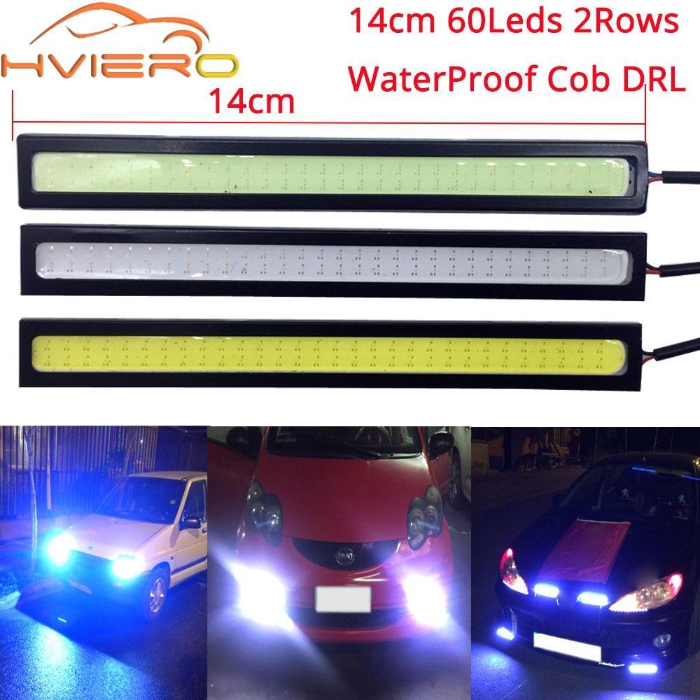 1*12V COB LED DRL Auto Car Driving Daytime Running Lights Strip Panel Lamps