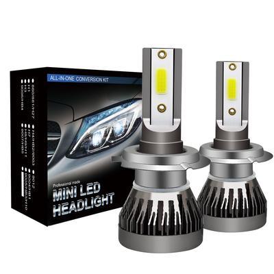 2X Mini H8 H9 H11 CSP LED Headlight Bulb kit 1500W 255000LM Lamp 6000K White Car