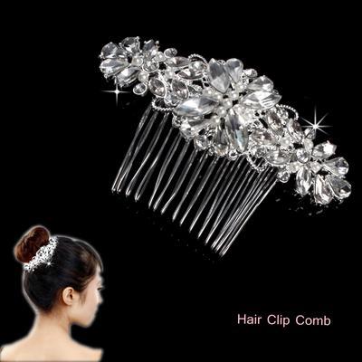 20Pcs Clear Crystal Rhinestone Diamante Wedding Bridal Prom Hair Pins Hairpin JD