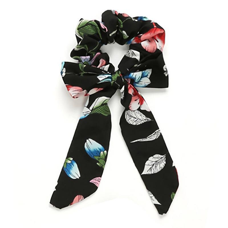 Femmes à Rayures Cheveux Anneau Corde Cute Bow Knot Scrunchies Ponytail Holder Hair Tie