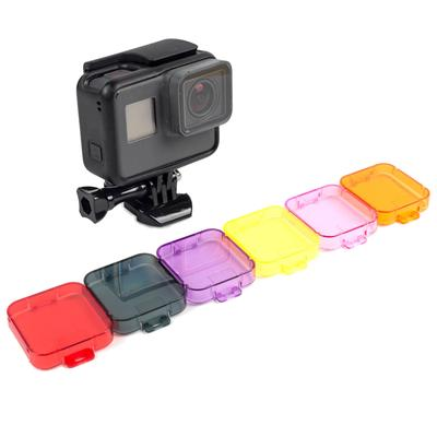 6 PCS Snorkeling Diving Lens Filters Color Correction Underwater Filter for  GoPro Hero 5