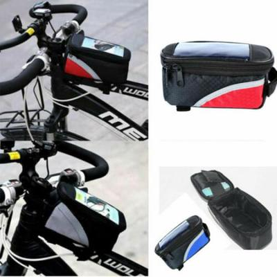 Mountain Cycling Bike Bicycle Frame Pannier Front Pouch Bag Mobile Phone Holder