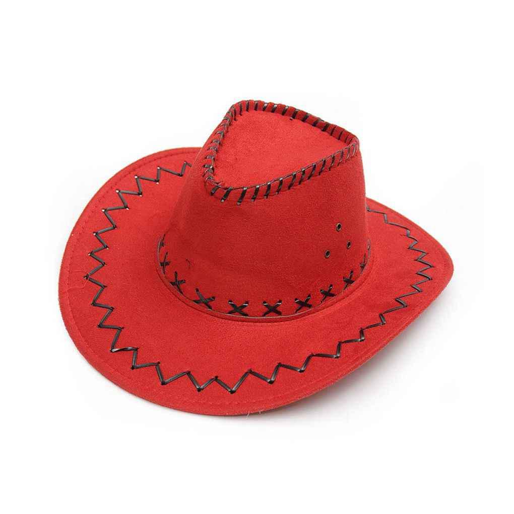 Unisex Cowboy Bucket Brim Western Knight Hat with Cord Felt Fancy GL