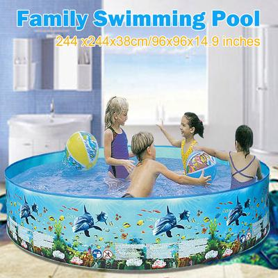 4 Sizes Family Swimming Pool Garden Outdoor Summer Inflatable Kids Paddling Pool