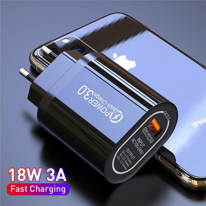 Быстрая зарядка 3.0 18W 3.0 4.0 Быстрое зарядное устройство USB портативное зарядное устройство для зарядки мобильного телефона для iPhone Samsung Xiaomi Huawei фото