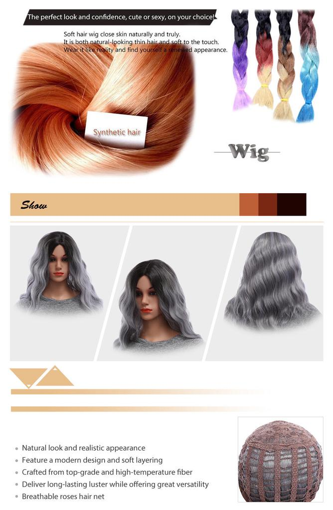 Moda gris microondas rizado rizado Sexy Cosplay peluca para las ... 05a7f27f2a3b