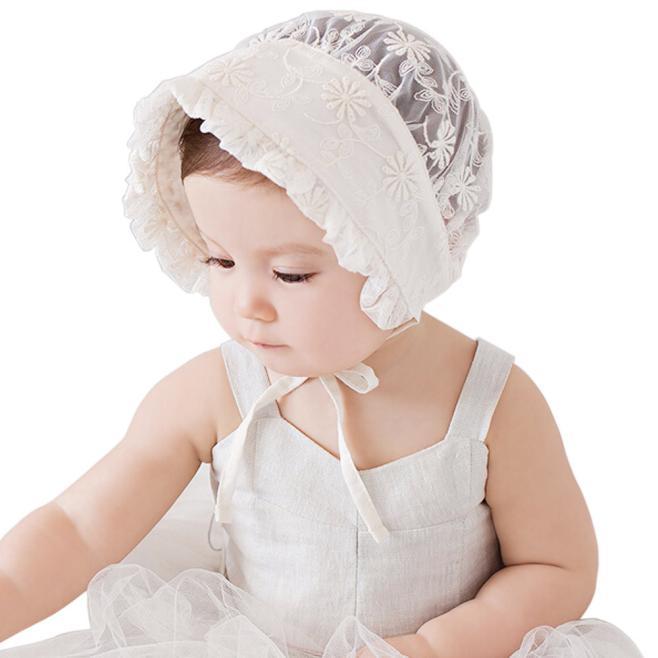 Baby Fotografie Hüte Mützen Neugeborenen Motorhaube Cotton Lace Hat Bandage Cap