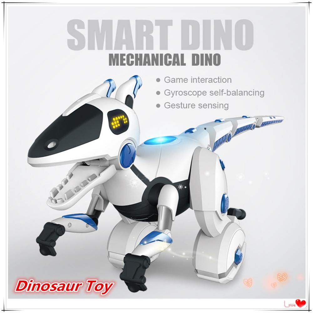 Radio Remote Controlled T Rex Light Up Dinosaur Toy Robot Sound Game Great Gift
