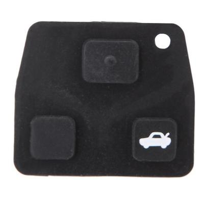 3 Buttons Remote Key Repair Kit Case Fob Button Pad Rubber for Toyota Avensis