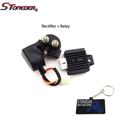 STONEDER Regulator Rectifier Solenoid Relay For 50-125cc Engine Chinese  Lifan Loncin ATV Quad