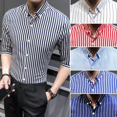 d92a511371 6 kolorów Moda męska Casual Shirt Wysokiej jakości męska długi rękaw w  paski sprzedaż Casual Shirt