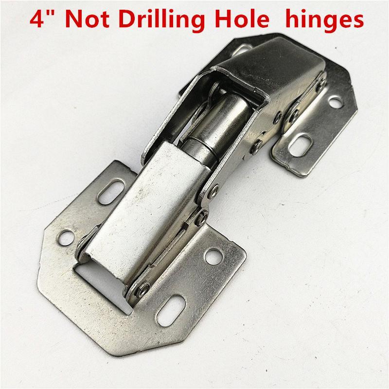 10pcs 3in Bridge Shaped Spring Frog Cabinet Door Hinges No Drilling Hole #Z