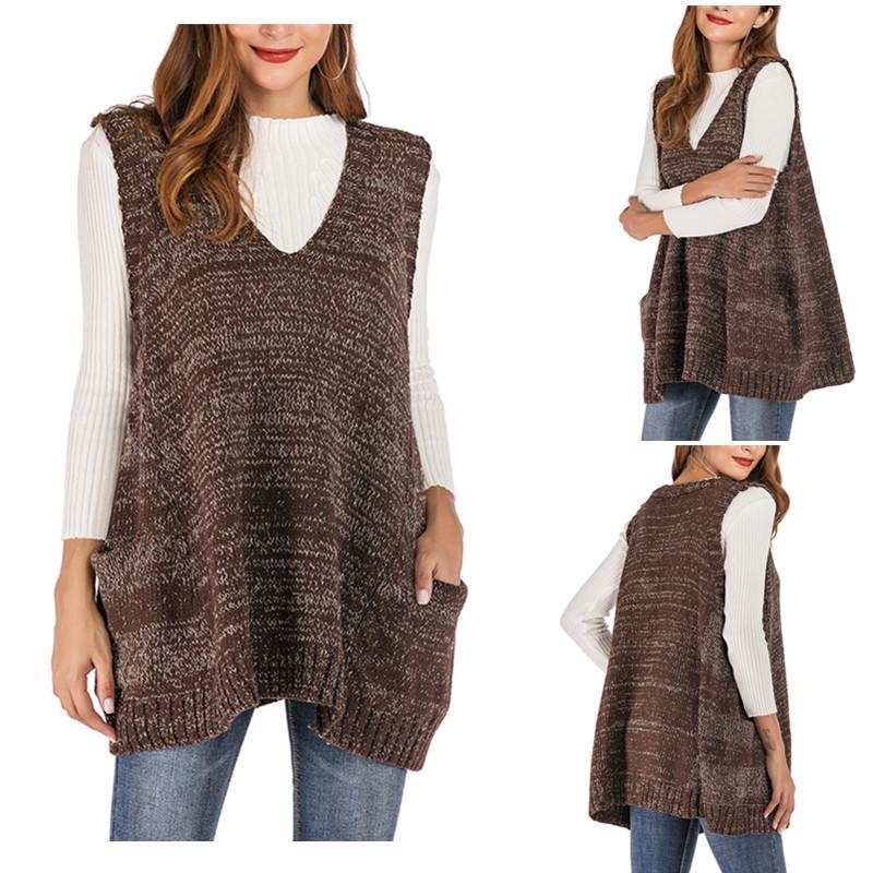 Transer Womens Casual Solid Lapel Open Front Vest Long Cardigan Gilet Waistcoat Coat