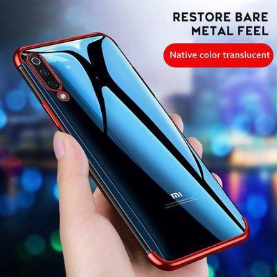 Luxury Plating Frame Soft Clear TPU Case Phone Bumper Case for Xiaomi Redmi Note 8t 9s 8 Pro 7 7a 8a Mi 9 Lite 9T Pro A3 A2 Lite Note 10