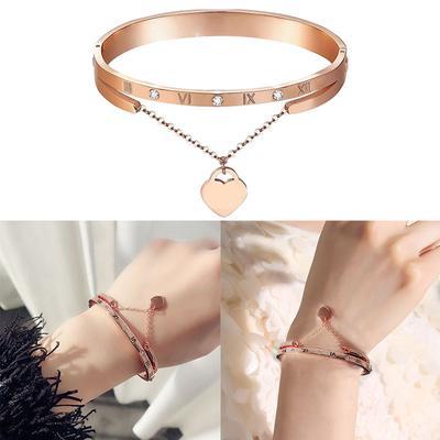 4pcs//set Bijoux Fashion Charme Pendentif Acrylique Perles Femme Bracelet Bangle