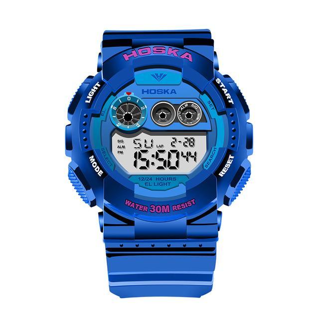 ba2e8363c24 digital-relógio marca HOSKA do quartzo relógio garota estudante ...