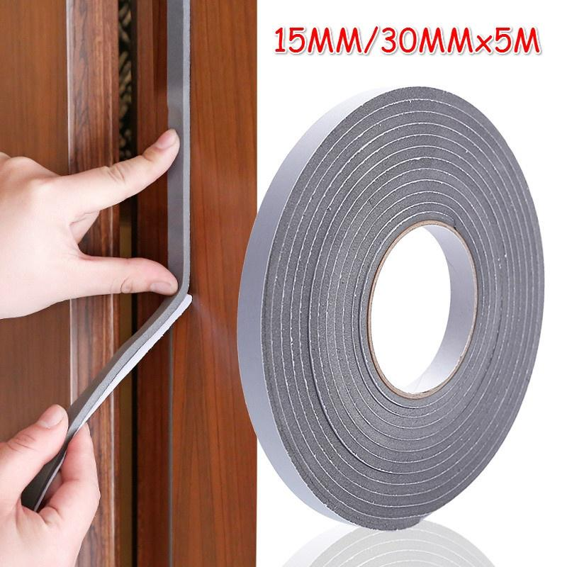 Draught Excluder Foam Weather Strip Tape Seal For Doors Windows Draft Insulation
