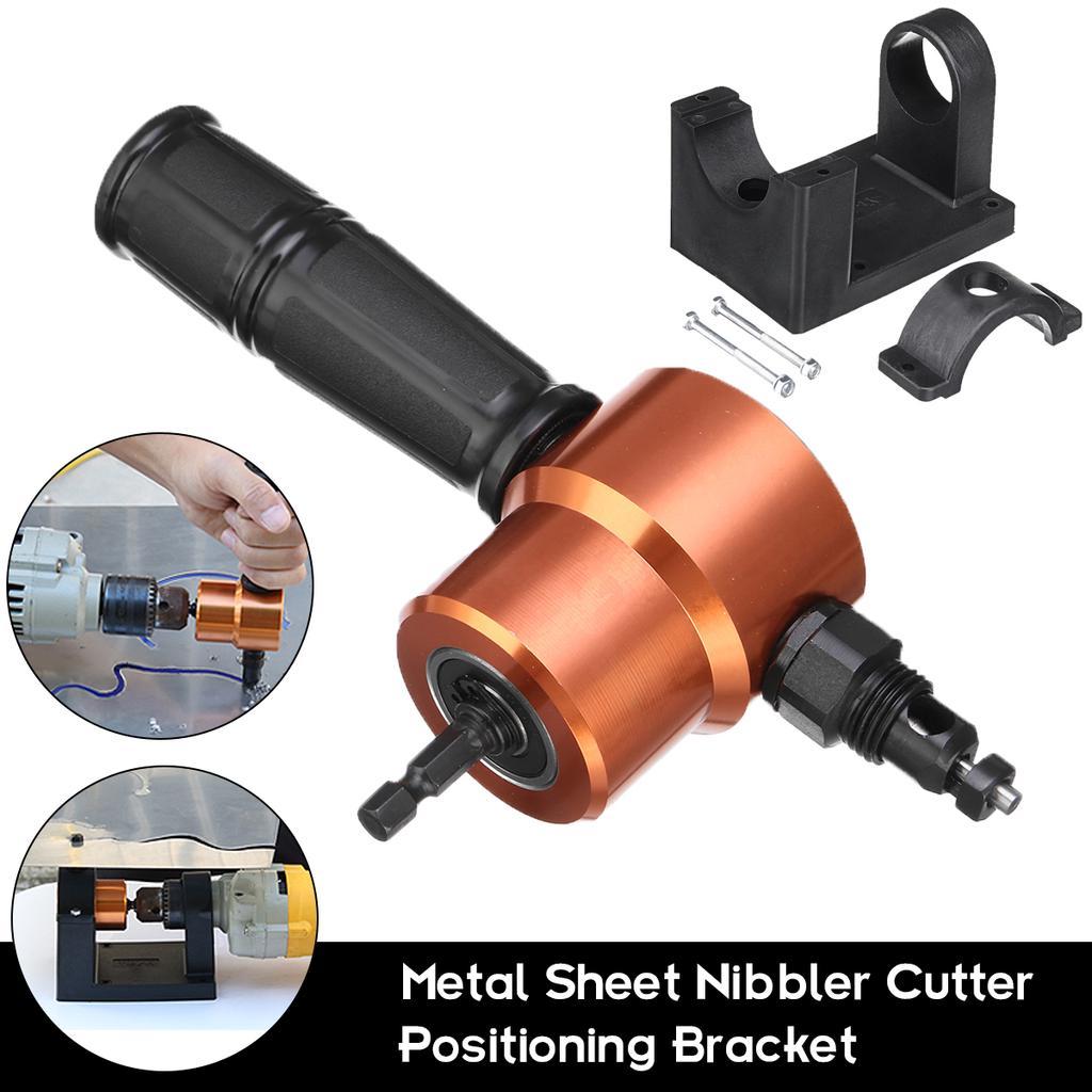 AD/_ ITS Head Metal Cutting Sheet Nibbler Saw Cutter Pole Drill Attachment Tool