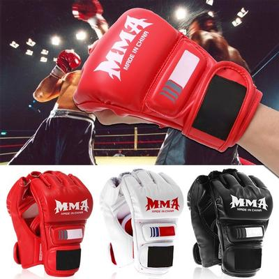 Boxing Half Finger Gloves MMA Muay Thai Training Sanda Gym