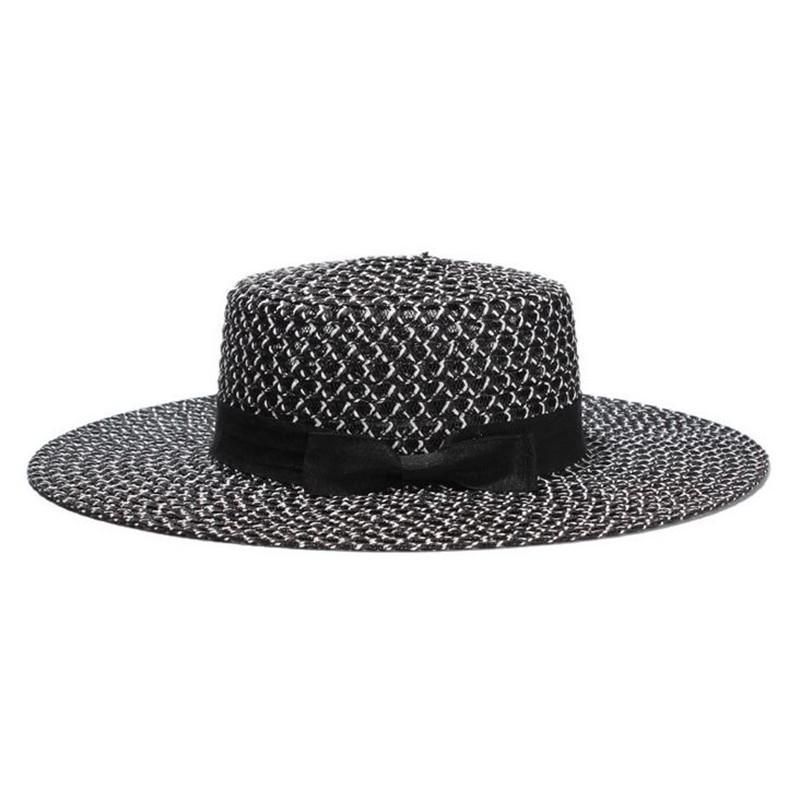 Verano playa paja sombrero sombrero del arco estilo Boho Panamá Jazz ...
